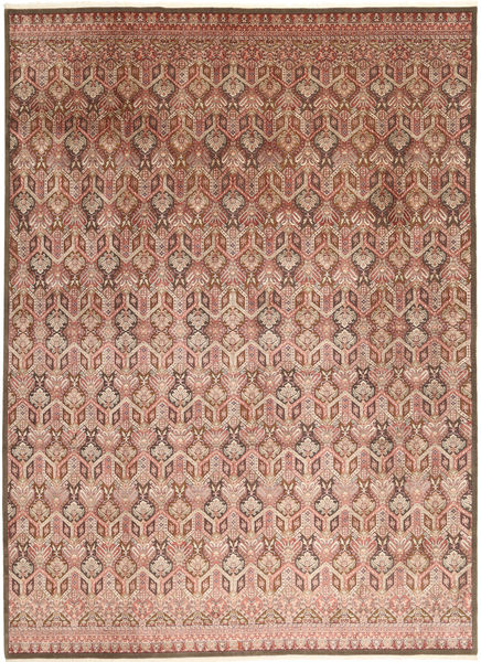 Tabriz Royal Rug 271X363 Authentic  Oriental Handknotted Light Pink/Light Brown Large ( India)