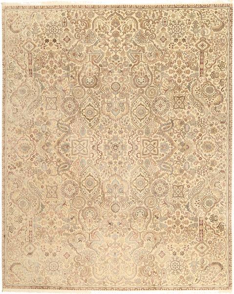 Tabriz Royal Matto 241X302 Itämainen Käsinsolmittu Tummanbeige/Vaaleanruskea ( Intia)