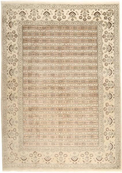タブリーズ Royal 絨毯 264X362 オリエンタル 手織り ベージュ/薄茶色 大きな ( インド)