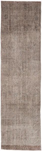 Colored Vintage Rug 80X301 Authentic  Modern Handknotted Hallway Runner  Light Grey/Brown (Wool, Turkey)