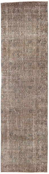 Colored Vintage Rug 80X290 Authentic  Modern Handknotted Hallway Runner  Light Brown/Brown (Wool, Turkey)