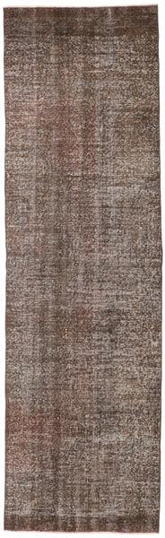 Colored Vintage Rug 81X276 Authentic  Modern Handknotted Hallway Runner  Light Brown/Dark Brown/Brown (Wool, Turkey)