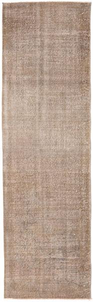 Colored Vintage Rug 76X256 Authentic  Modern Handknotted Hallway Runner  Light Brown/Light Grey (Wool, Turkey)