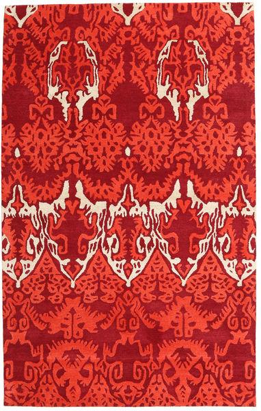 Handtufted Tapis 153X246 Moderne Rouge (Laine, Inde)