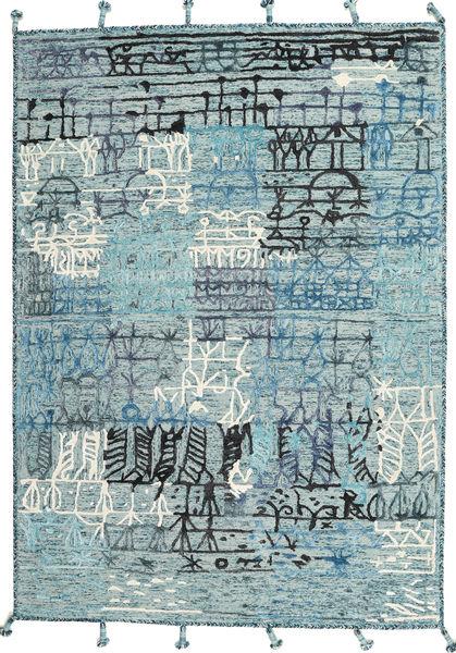 Handtufted Tapijt 171X240 Modern Lichtblauw/Beige (Wol, India)