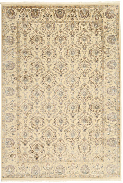 Tabriz Royal Rug 184X271 Authentic  Oriental Handknotted Light Brown/Beige ( India)