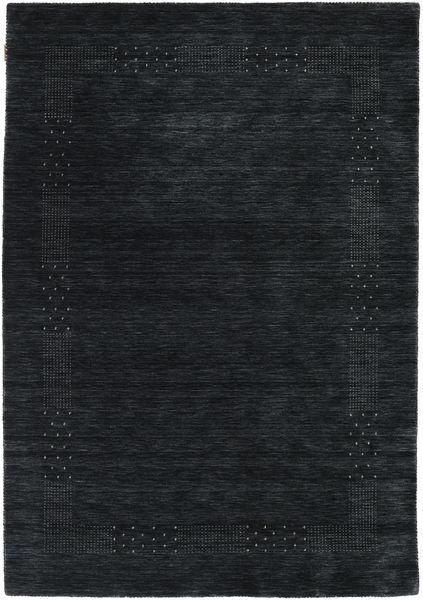 Loribaf Loom Beta - Black/Grey Rug 160X230 Modern Dark Blue (Wool, India)