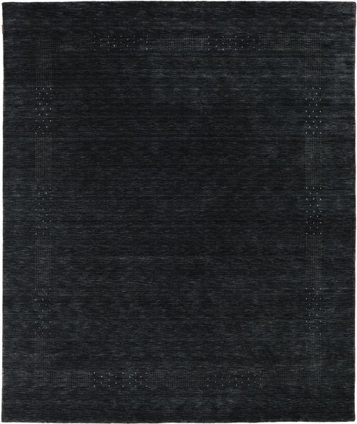 Loribaf Loom Beta - Negro/Gris Alfombra 240X290 Moderna Azul Oscuro (Lana, India)
