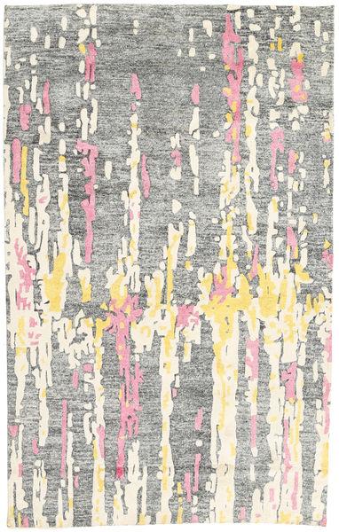 Handtufted Tapis 150X238 Moderne Gris Clair/Gris Foncé (Laine, Inde)