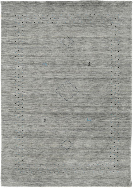 Loribaf Loom Alfa - Grey Rug 160X230 Modern Light Grey/Turquoise Blue (Wool, India)