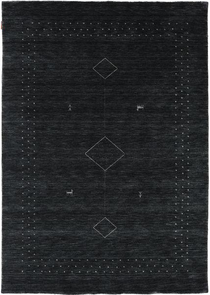 Loribaf Loom Alfa - Svart/Grå Matta 160X230 Modern Svart (Ull, Indien)