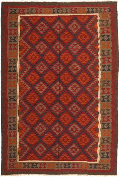 Kelim Maimane Matto 200X288 Itämainen Käsinkudottu Ruoste/Tummanpunainen/Ruskea (Villa, Afganistan)
