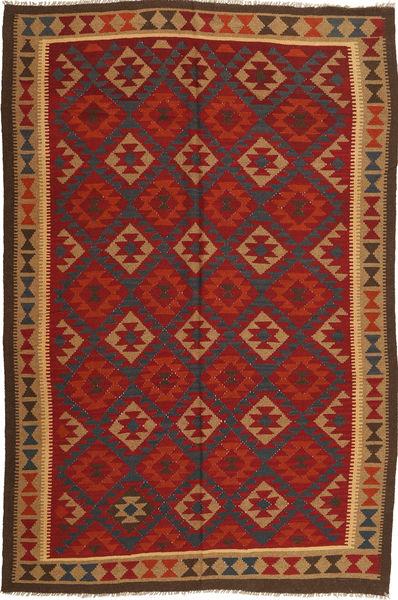 Kelim Maimane Matto 193X290 Itämainen Käsinkudottu Ruoste/Tummanruskea (Villa, Afganistan)