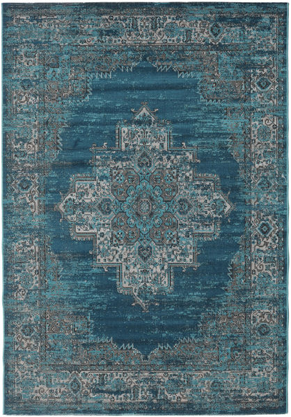 Vintage Vega - Petrol/Turquoise Rug 140X200 Modern Dark Blue/Light Grey ( Turkey)