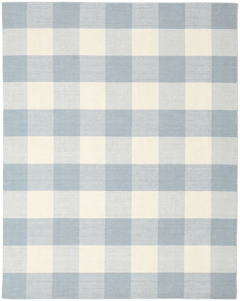 Check Kilim Rug 240X300 Authentic  Modern Handwoven Light Grey/Light Blue/Beige (Wool, India)