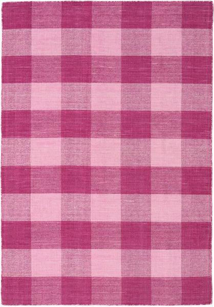 Check Kilim Matto 120X180 Moderni Käsinkudottu Pinkki/Vaaleanpunainen (Villa, Intia)