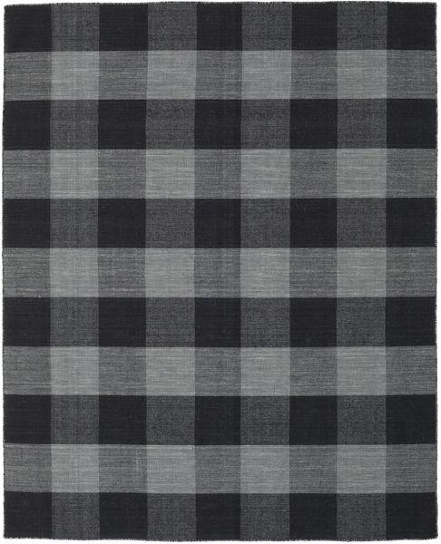 Check Kilim Szőnyeg 190X240 Modern Kézi Szövésű Sötétszürke/Fekete (Gyapjú, India)