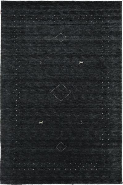 Loribaf Loom Alfa - Musta/Harmaa Matto 190X290 Moderni Musta (Villa, Intia)