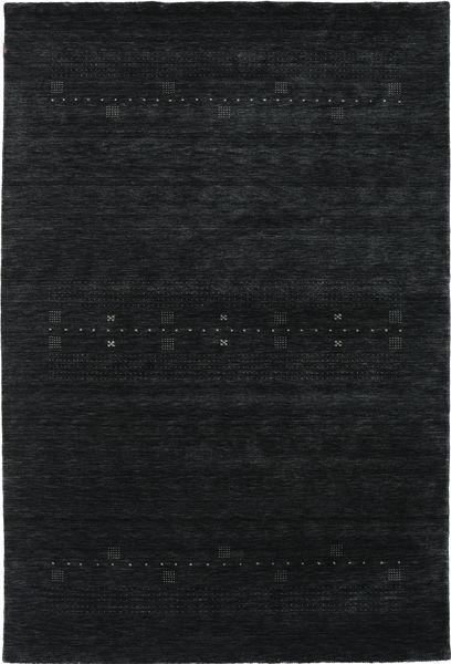 Loribaf Loom Eta - Musta/Harmaa Matto 190X290 Moderni Tummanharmaa (Villa, Intia)
