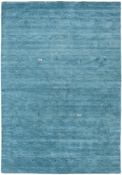 Loribaf Loom Alfa - Sininen Matto 160X230 Moderni Siniturkoosi/Sininen (Villa, Intia)
