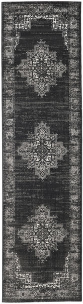 Vintage Vega - Anthracite/Grey Rug 80X300 Modern Hallway Runner  Dark Grey ( Turkey)