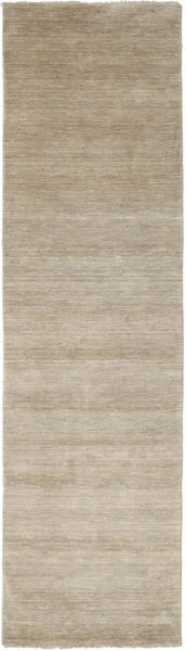 Handloom Fringes - Light Grey/Beige Rug 80X300 Modern Hallway Runner  Light Brown (Wool, India)