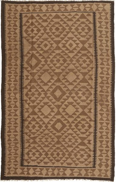 Kilim Rug 157X242 Authentic  Oriental Handwoven Brown/Light Brown (Wool, Persia/Iran)