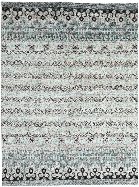 Quito - Grå Matta 240X340 Äkta Modern Handknuten Ljusgrå/Beige (Silke, Indien)