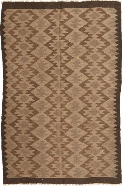 Kilim Rug 157X251 Authentic  Oriental Handwoven Brown/Light Brown (Wool, Persia/Iran)