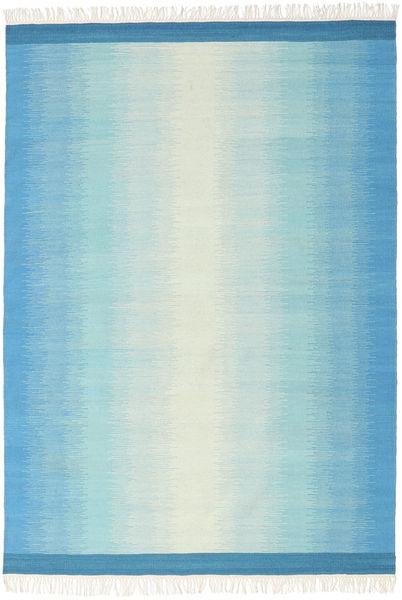 Ikat - Sininen/Turquoise Matto 160X230 Moderni Käsinkudottu Vaaleansininen/Siniturkoosi (Villa, Intia)