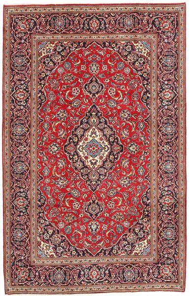 Keshan Rug 196X303 Authentic  Oriental Handknotted Dark Red/Brown (Wool, Persia/Iran)