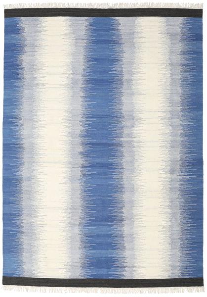 Ikat - Sininen Matto 240X340 Moderni Käsinkudottu Beige/Sininen (Villa, Intia)