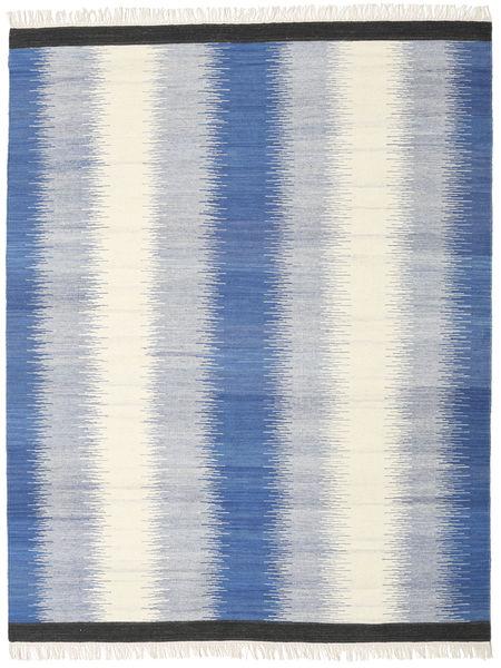 Ikat - Sininen Matto 190X240 Moderni Käsinkudottu Beige/Sininen/Vaaleanharmaa (Villa, Intia)
