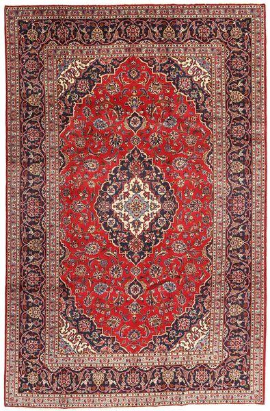 Keshan Matto 200X300 Itämainen Käsinsolmittu Ruskea/Tummanpunainen (Villa, Persia/Iran)