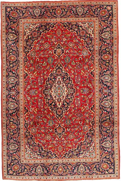 Keshan Rug 207X308 Authentic  Oriental Handknotted Dark Red/Brown (Wool, Persia/Iran)
