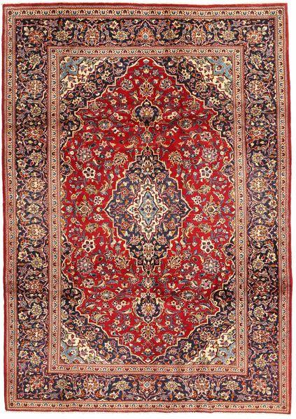Keshan Matta 206X293 Äkta Orientalisk Handknuten Mörkröd/Mörkbrun (Ull, Persien/Iran)