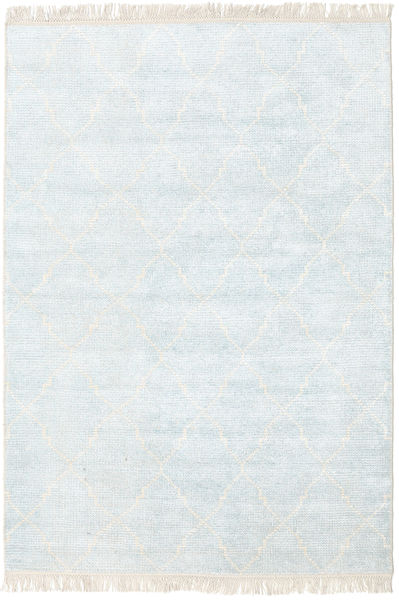 Bamboo Silk Vanice Rug 140X200 Authentic  Modern Handknotted Beige/White/Creme ( India)