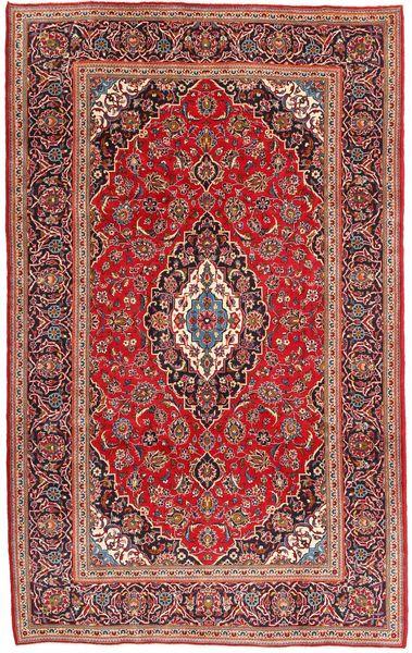 Keshan Rug 200X315 Authentic  Oriental Handknotted Dark Red/Brown (Wool, Persia/Iran)