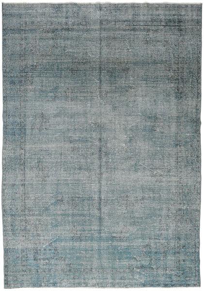 Colored Vintage Rug 205X287 Authentic  Modern Handknotted Dark Grey/Blue (Wool, Turkey)