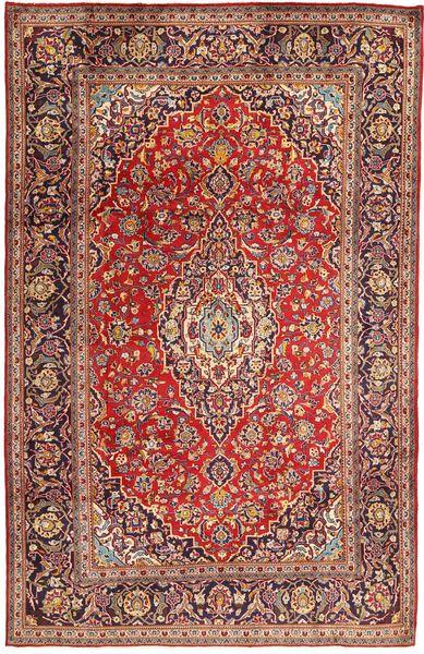 Keshan Rug 194X295 Authentic  Oriental Handknotted Dark Red/Brown (Wool, Persia/Iran)