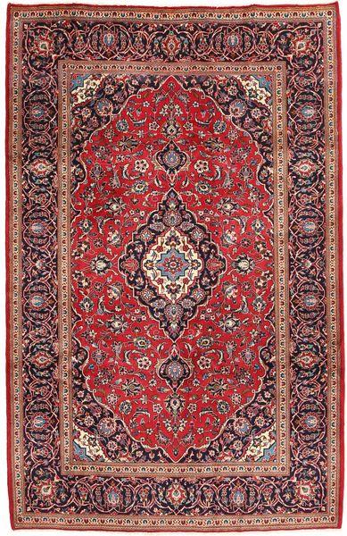 Keshan Matta 199X305 Äkta Orientalisk Handknuten Mörkröd/Mörkbrun (Ull, Persien/Iran)