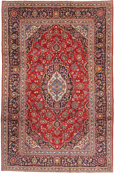 Keshan Matto 198X305 Itämainen Käsinsolmittu Tummanpunainen/Ruskea (Villa, Persia/Iran)