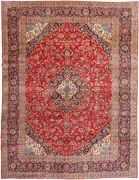 Keshan Matto 300X391 Itämainen Käsinsolmittu Ruskea/Tummanpunainen Isot (Villa, Persia/Iran)