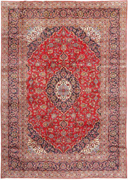 Keshan Matta 245X345 Äkta Orientalisk Handknuten Brun/Mörkröd (Ull, Persien/Iran)