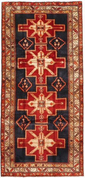 Ardebil Matta 151X313 Äkta Orientalisk Handknuten Hallmatta Roströd/Mörkgrön (Ull, Persien/Iran)