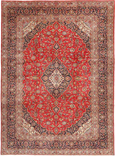 Keshan Rug 290X398 Authentic  Oriental Handknotted Light Brown/Brown Large (Wool, Persia/Iran)