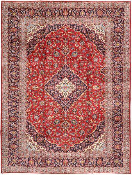 Keshan Matto 293X387 Itämainen Käsinsolmittu Vaaleanruskea/Violetti Isot (Villa, Persia/Iran)