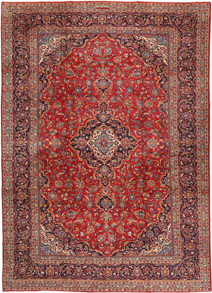 Keshan Matto 296X406 Itämainen Käsinsolmittu Ruskea/Ruoste Isot (Villa, Persia/Iran)