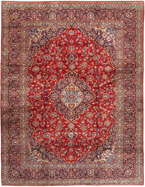 Keshan Rug 292X374 Authentic  Oriental Handknotted Brown/Rust Red Large (Wool, Persia/Iran)