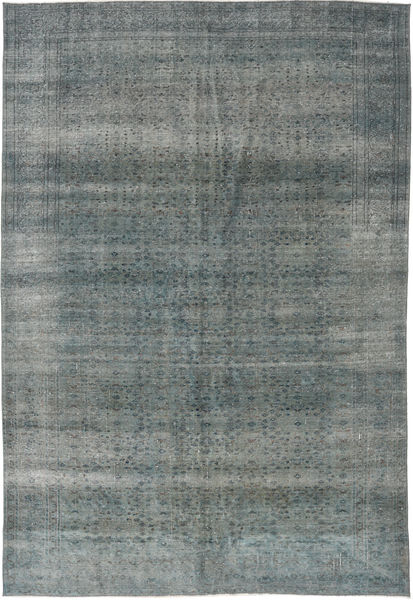 Colored Vintage Rug 195X281 Authentic  Modern Handknotted Blue/Dark Grey (Wool, Turkey)